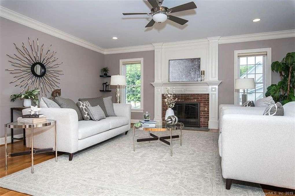 staged living room west hartford